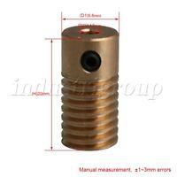 0.5 Modulus Brass Gear Shaft Worm Z1 3.17MM-ID Dia. Drive Gearbox
