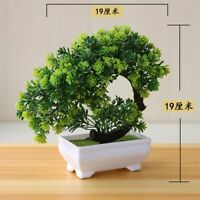Artificial Plants Bonsai Small Tree Pot Fake Flowers Potted Decoration