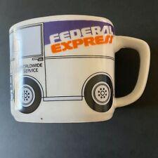FEDERAL EXPRESS/ FEDEX 8 oz. Porcelain Delivery Truck Coffee Mug