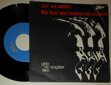 "GUIDO (GIDO) VIC ALEX EUGSTER, ORCHESTER FRANK VALDOR LASS UNS WANDERN 7"" SINGLE"