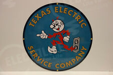 Reddy Kilowatt TEXAS ELECTRIC DIE CUT HEAVY-THICK GREAT COLORS ELECTRICIAN GIFT