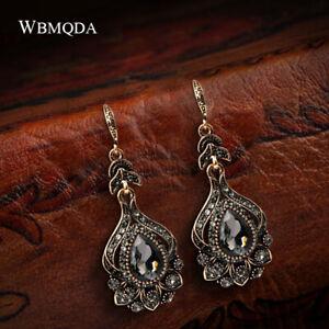 Topaz Grey Oval Girls Sterling Silver Hook Drop Dangle Earrings Jewellery Gift