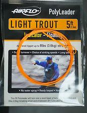 AIRFLO Polyleader LIGHT TROUT 5ft |1,50 Mtr. INDICATOR FLOATING fluo orange
