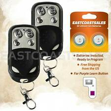 2 For 953D 953CD Chamberlain 315mhz Garage Door Opener Remote Keychain