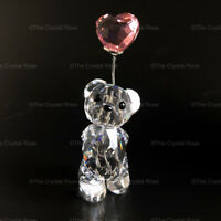 Swarovski Crystal Kris Bear I Love You 842933 Pink Heart Balloon Mint Boxed