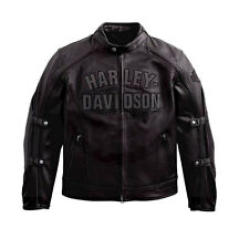 Harley Davidson Men's ACCELERATOR Leather Jacket Switchback 2in1 2XL 97147-10VM