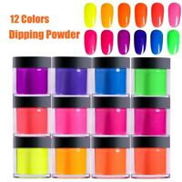 Dipping Powder Neon Colors Dust Nail Extension Builder Acrylic Crystal