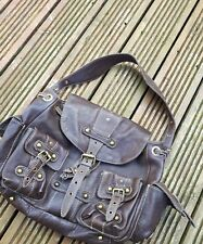 Topshop studded soft leather multi pockets handbag-vgc