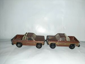 2 Vtg 1982 ERTL The Fall Guy GMC Pickup Trucks Colt Lee Majors 1/64 Hong Kong