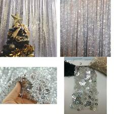 Backdrop Sequin Sparkly Photo Booth Silver Wedding Shimmer Curtain 4Ft X 6.5Ft