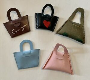Vintage Ginny, Muffie, Ginger Alexkin 1950s: Lot of 5 Doll Purses - Excellent