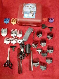 Wahl Contour Pet Clipper Kit 9765 W/ Extra Guide Combs lot