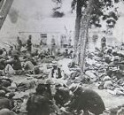 Civil War Magic Lantern Slide Showing Wounded Soldiers for sale