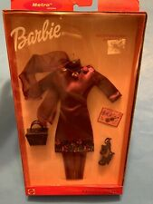 Barbie Fashion Avenue 25701 Reception Roses 2000 NRFB Burgundy Dress Scarf Shoes