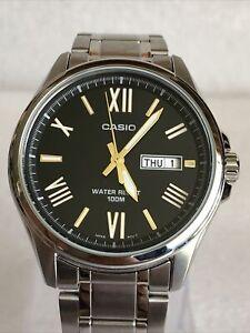 Casio MTP-1377D-1AVEF Collection Silver Steel Bracelet Watch.