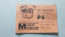 Minarelli motore P6 50 1974 manuale uso originale owner's manual