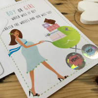 SCRATCH CARD Pregnancy Announcement Gender Reveal Baby Card Baby Shower Cards
