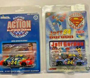 NEW 2 CAR Jeff Gordon NASCAR Superman 1999 1/64 AND 1996 Dupont Limited Edition