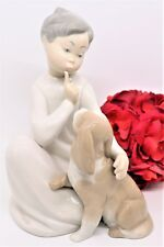 """Retired Lladro Figurine """"Boy With Dog"""" #4522 1970-1998 Perfect Condition"""