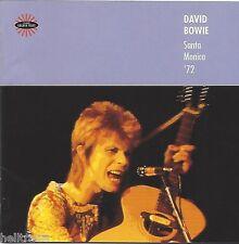 DAVID BOWIE / SANTA MONICA '72 - LIVE * NEW CD * NEU *