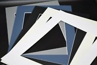 Pack Of 10 Photo Picture Frame Mounts Bevel Cut 1.4mm White Core Mount board