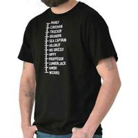Beard Measurement Funny Hipster Novelty Gift Mens Short Sleeve Crewneck Tee