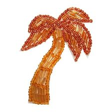 ID 8860 Palm Tree Patch Exotic Tropical Beach Plant Beaded Iron On Applique