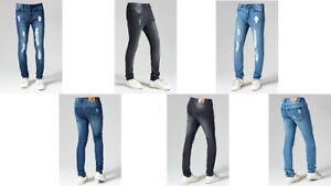 Mens Skinny Jeans Slim Fit Super Stretch Denim Pant Designer All Waist Size