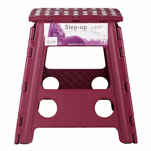 Qhp Step Up Stable And Yard Accessory - Burgundy One Size