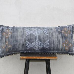 Moroccan Sabra Silk Inspired Handmade Cotton Pillow Cushion Cover