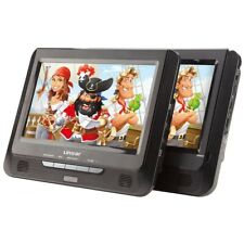 "Linsar 9"" Portable DVD Player Dual Screen with USB SD 12v 240v Car Home Travel"