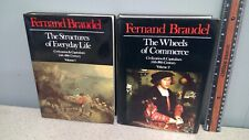 STRUCTURES OF EVERYDAY LIFE & WHEELS OF COMMERCE. Braudel. hardcover Vol 1-2!