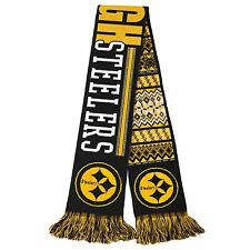 """NFL 2015 REVERSIBLE UGLY SWEATER SCARF PITTSBURGH STEELERS 64"""" LONG by 7"""""""