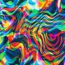 Stoff Jersey Baumwolle Regenbogen bunt Wellen abstrakt Wasseroberfläche
