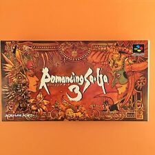 Romancing Sa Ga 3 with BOX Nintendo Super Famicom SNES SFC JP Vido Game 516-8