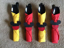 Mickey Mouse themed wrapped party Utensils. Set of 8. Great for Birthday Parties