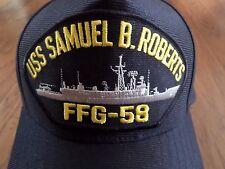USS SAMUEL B. ROBERTS FFG-58 NAVY SHIP HAT U.S MILITARY OFFICIAL BALL CAP U.S.A