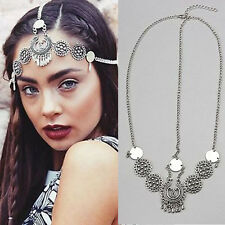 Boho New Women Head Chain Jewelry Metal Rhinestone Headband Head Piece Hair band