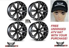 "MSA M20 Kore UTV Wheels/Rims Black 14"" Polaris RZR 900 and S 900  (4) wheels!"