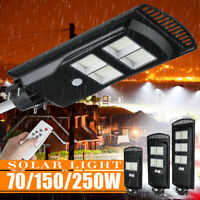 50000LM 576LED Wall Street Light Solar Panel Outdoor Garden Lamp+Remote Control