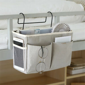 Bed Bedside Storage Organiser Holder Tidy Hook Cabin Shelf Bunks Pocket Chair uk