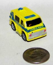 Small Micro Machine Plastic Ambulance marked Paramedic Chevy Van in Yellow