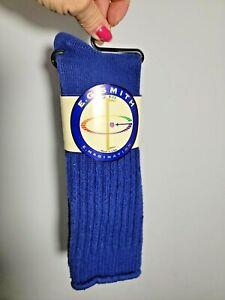 Vintage Women's E. G. Smith Slouch Socks DENIM BLUE LOVE ERIC NWT STYLE 1125