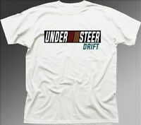 Mitsubishi Ralliart inspired EVO Car UNDERSTEER DRIFT white t-shirt 01350
