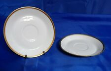 Vtg Hutschenreuther Selb NOBLESSE Saucer #03630 - Gold Trim On Plain White