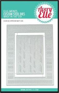 Avery Elle Ellements Cutting Die Set ~ ARROW MAT  Texture, Creative  ~D-08-02