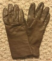 Vintage! Genuine Leather Women's Sz 7 Brown Thinsulate Lined Driving Gloves EUC!