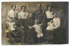 WW1 Era Red Cross / St John Ambulance With Family Member in Uniform RP PPC