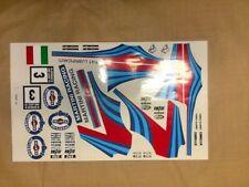 Martini Racing 1/8 scale rc car decal set Ofna GTP2E KyoshoTraxxas Rally slash