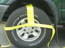 "4 -13""-35"" TOW DOLLY STRAPS TIE DOWN ROLLBACK 4X4 CLEVIS TOWING AXLE SHACKLE"